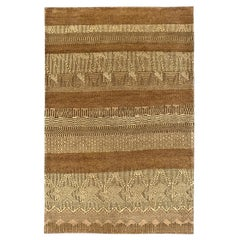 Contemporary Rug with a Tribal Pattern