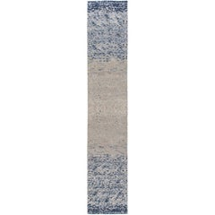 Pool Tile Runner in Blue and Grey