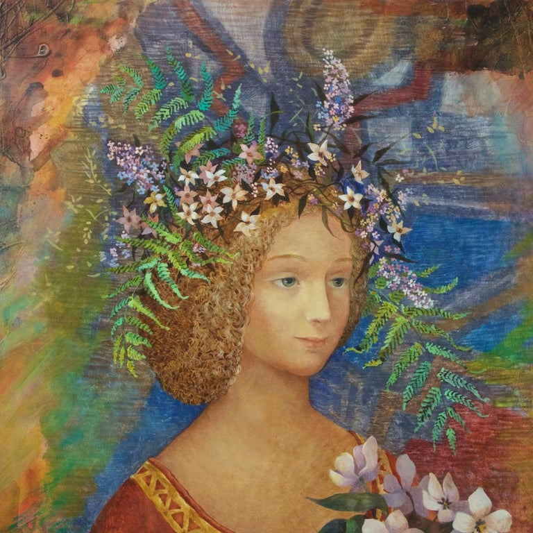 Hand-Painted Contemporary Russian Oil on Canvas Painting by Olga Oreshnikova For Sale