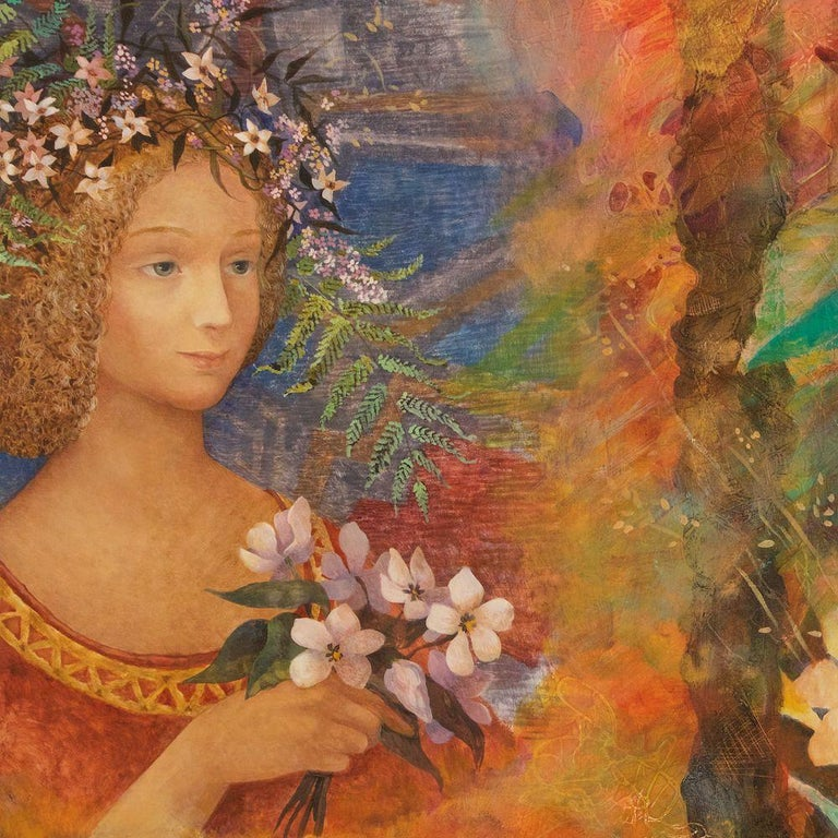 Contemporary Russian Oil on Canvas Painting by Olga Oreshnikova In Good Condition For Sale In New York, NY