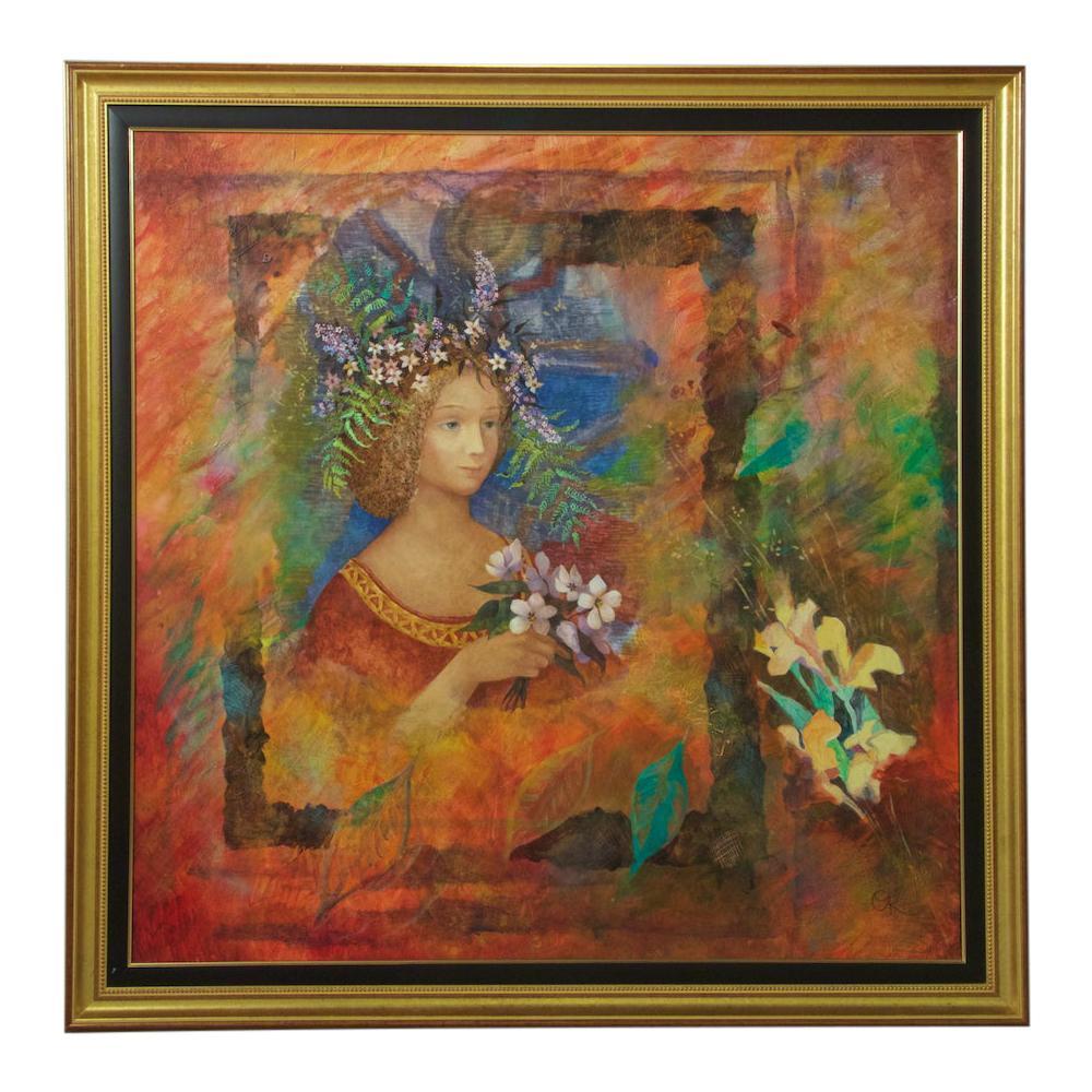 Contemporary Russian Oil on Canvas Painting by Olga Oreshnikova