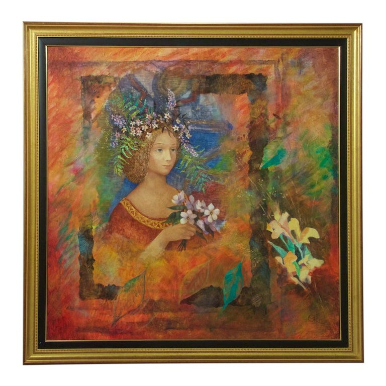 Contemporary Russian Oil on Canvas Painting by Olga Oreshnikova For Sale