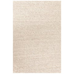 Contemporary Sandy Beige Flat-Woven Wool Kilim Rug