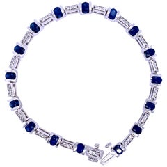 Contemporary Sapphire and Diamond Bracelet