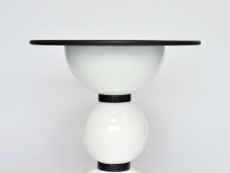 Dyed Contemporary Saturn Table by Connor Holland in Powder-Coated Steel For Sale
