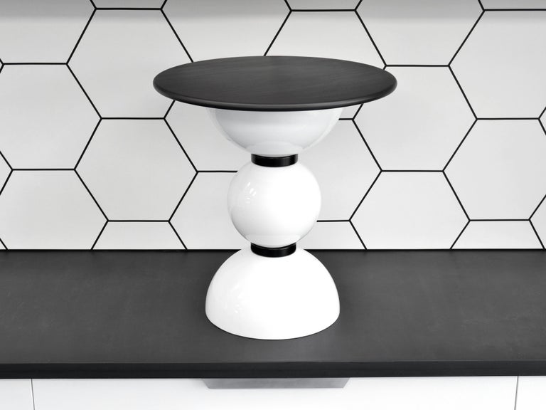 Contemporary Saturn Table by Connor Holland in Powder-Coated Steel For Sale 1