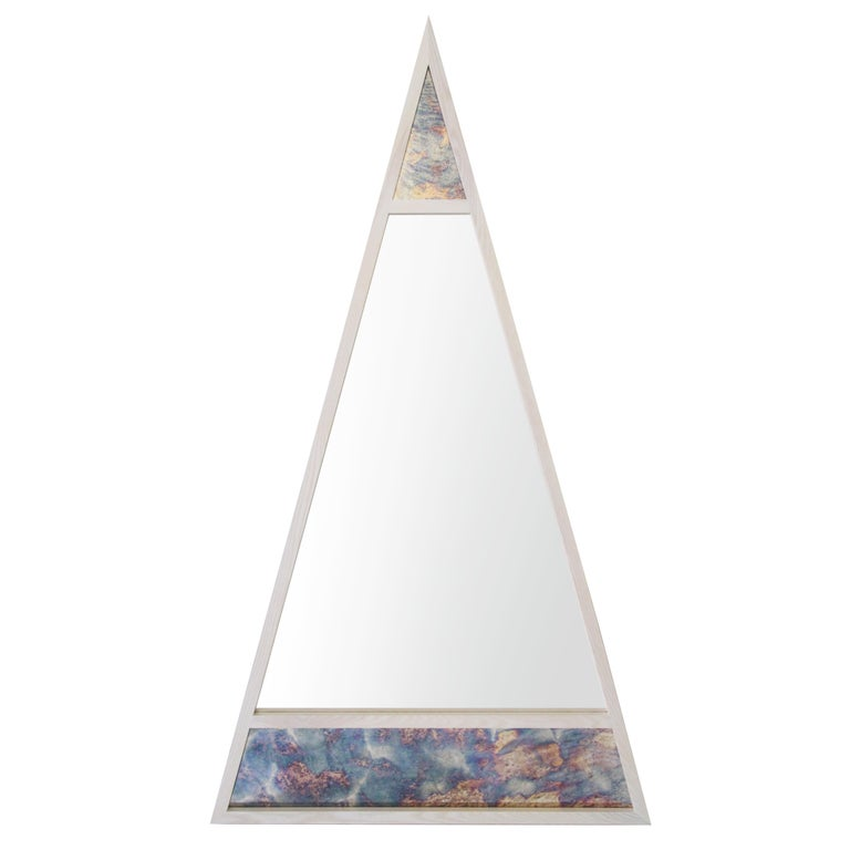 "Contemporary ""Scale Hydrangea Mirror"" by Alex Drew & No One, 2018 For Sale"