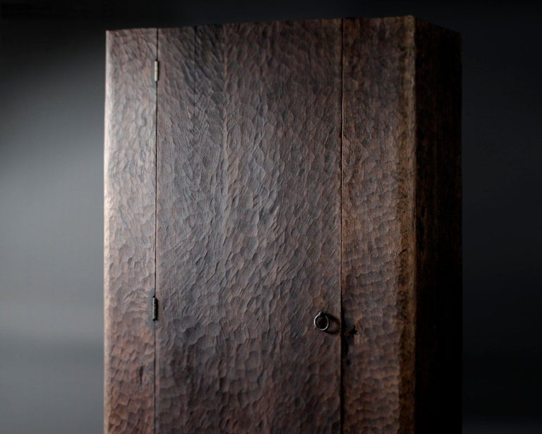 Wardrobe made of solid oak (+ linseed oil) Measures: 175 x 80 x 40 cm  Warm furniture's made by Russian designer Denis Milovanov from