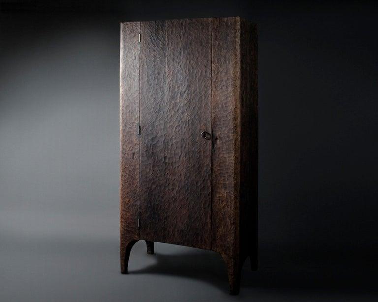 Russian Contemporary Sculpted Wardrobe/Cupboard in Solid Oak For Sale