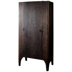 Contemporary Sculpted Wardrobe/Cupboard in Solid Oak