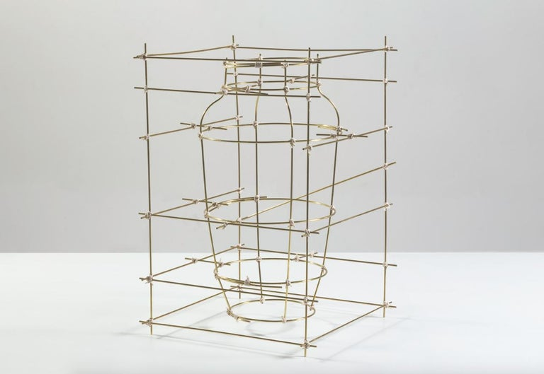 Other Contemporary Sculptural Brass Big Vase