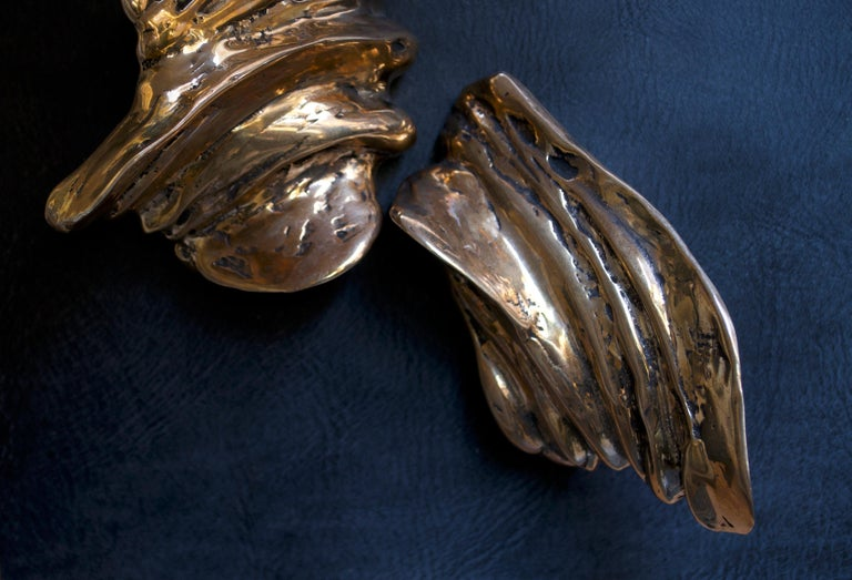 Contemporary Sculptural Bronze Handle - Clizia - Cast in French Sand Molds In New Condition For Sale In Milan, Lombardy
