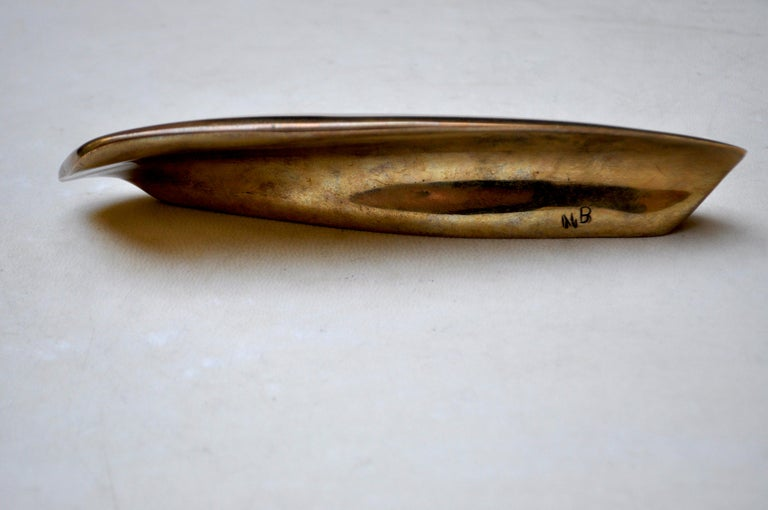 Contemporary Sculptural Bronze Handle 'Eblis' Cast in French Sand Molds In New Condition For Sale In Milan, Lombardy