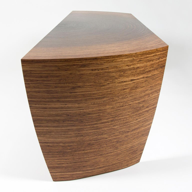 Contemporary Sculptural Desk in Fumed Oak and Brown Oak by Edward Johnson In New Condition For Sale In Bosham, GB