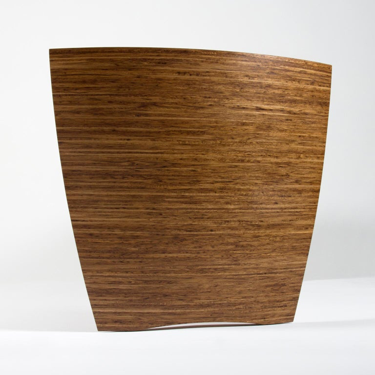 Contemporary Sculptural Desk in Fumed Oak and Brown Oak by Edward Johnson For Sale 1