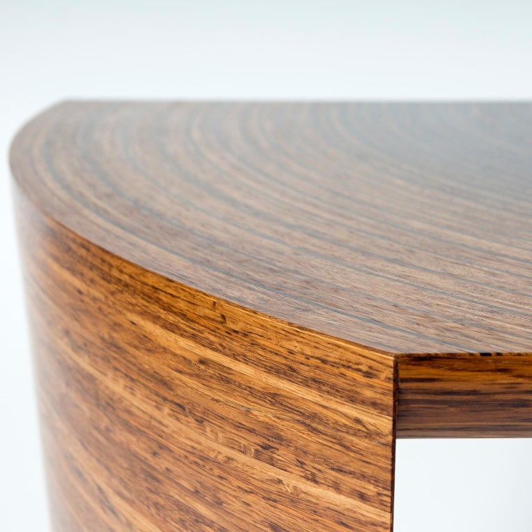 Contemporary Sculptural Desk in Fumed Oak and Brown Oak by Edward Johnson For Sale 2
