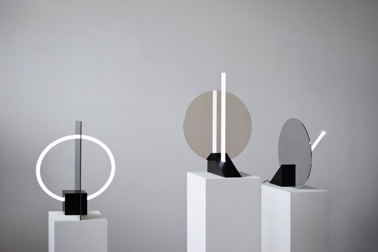 Stone Contemporary Sculptural Lamp and Mirror 'Elusive 01' For Sale