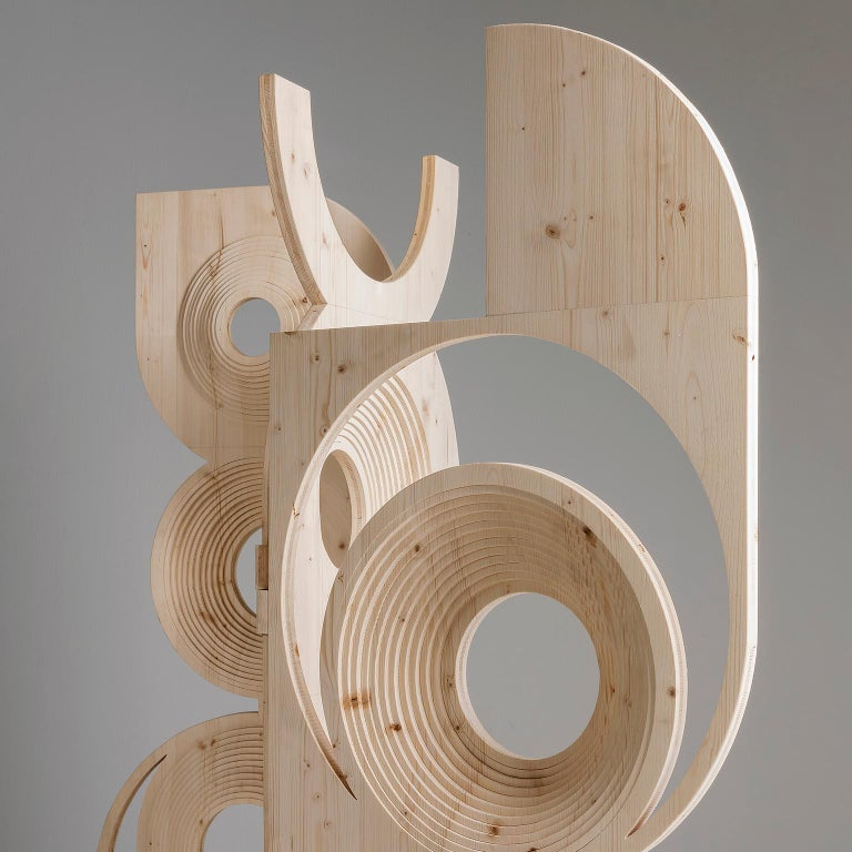 Modern  Sculptural Wood Room Divider by Sebastiano Bottos, Italia For Sale 2