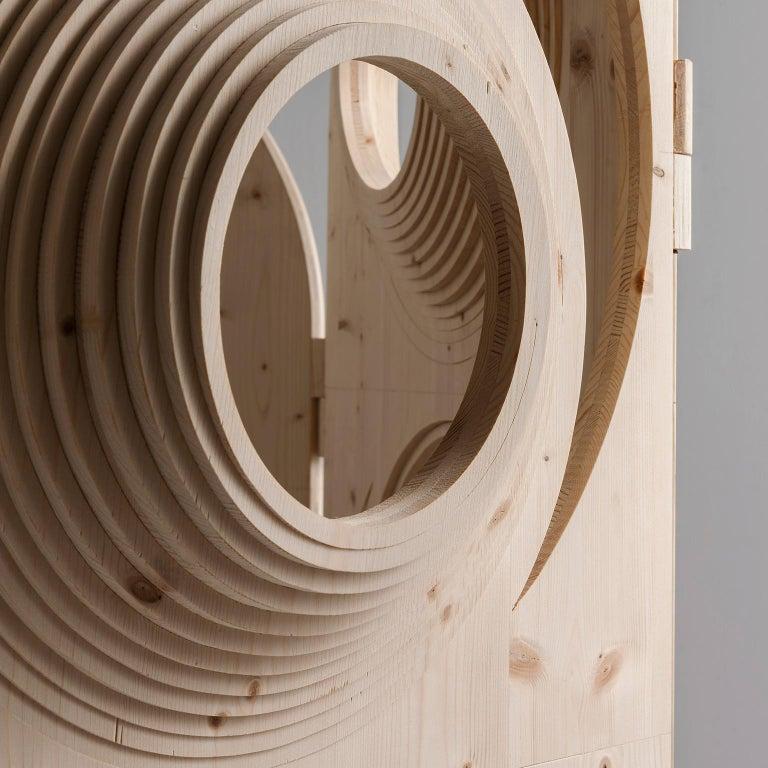 Modern  Sculptural Wood Room Divider by Sebastiano Bottos, Italia For Sale 3