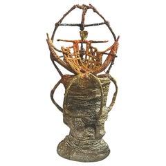 "Contemporary Sculpture ""D 0-84-0"" by Kerstin Amend-Pohlig Organic"