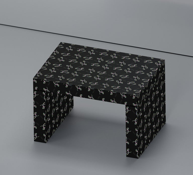 Other Contemporary Seating/Coffee Table Gaby Black Elle by Chapel Petrassi For Sale