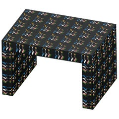 Contemporary Seating/Coffee Table Gaby Black Rainbow by Chapel Petrassi