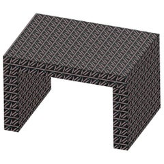 Contemporary Seating or Coffee Table Gaby Black California by Chapel Petrassi