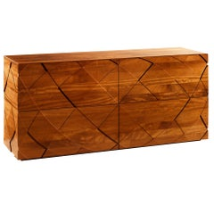 Contemporary Sedici Sideboard in Hand-Crafted Solid Wood