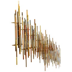 Contemporary Set of 9 Mixed Metal Brutalist Wall Sculptures by R.H. Berger 1980s