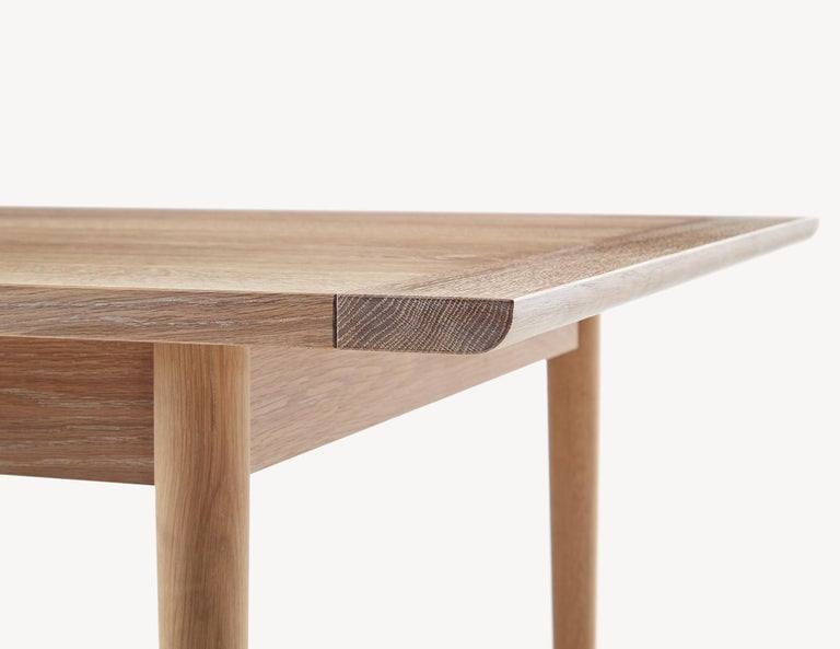 Oak Contemporary Blackened Ash Dining Table by Coolican & Company  (36