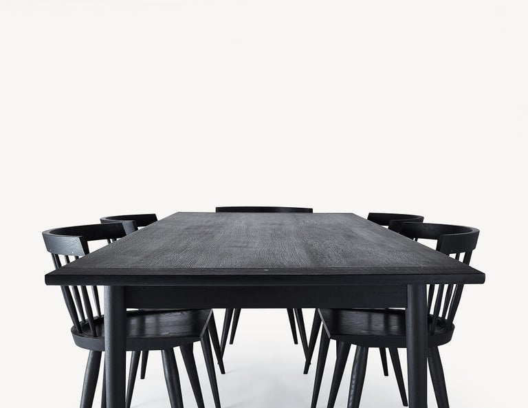 Contemporary Blackened Ash Dining Table by Coolican & Company  (36