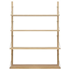 Contemporary Shelf Library H1148  Single Section