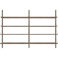 Contemporary Shelf Library Dark Double Section