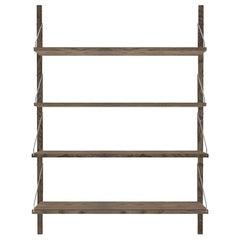 Contemporary Shelf Library Dark Single Section