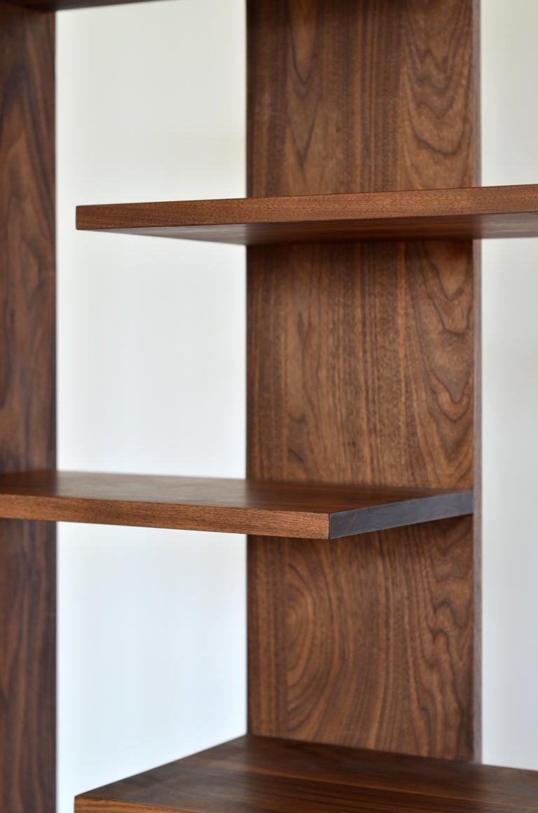Hand-Crafted Contemporary Shelving Room Divider