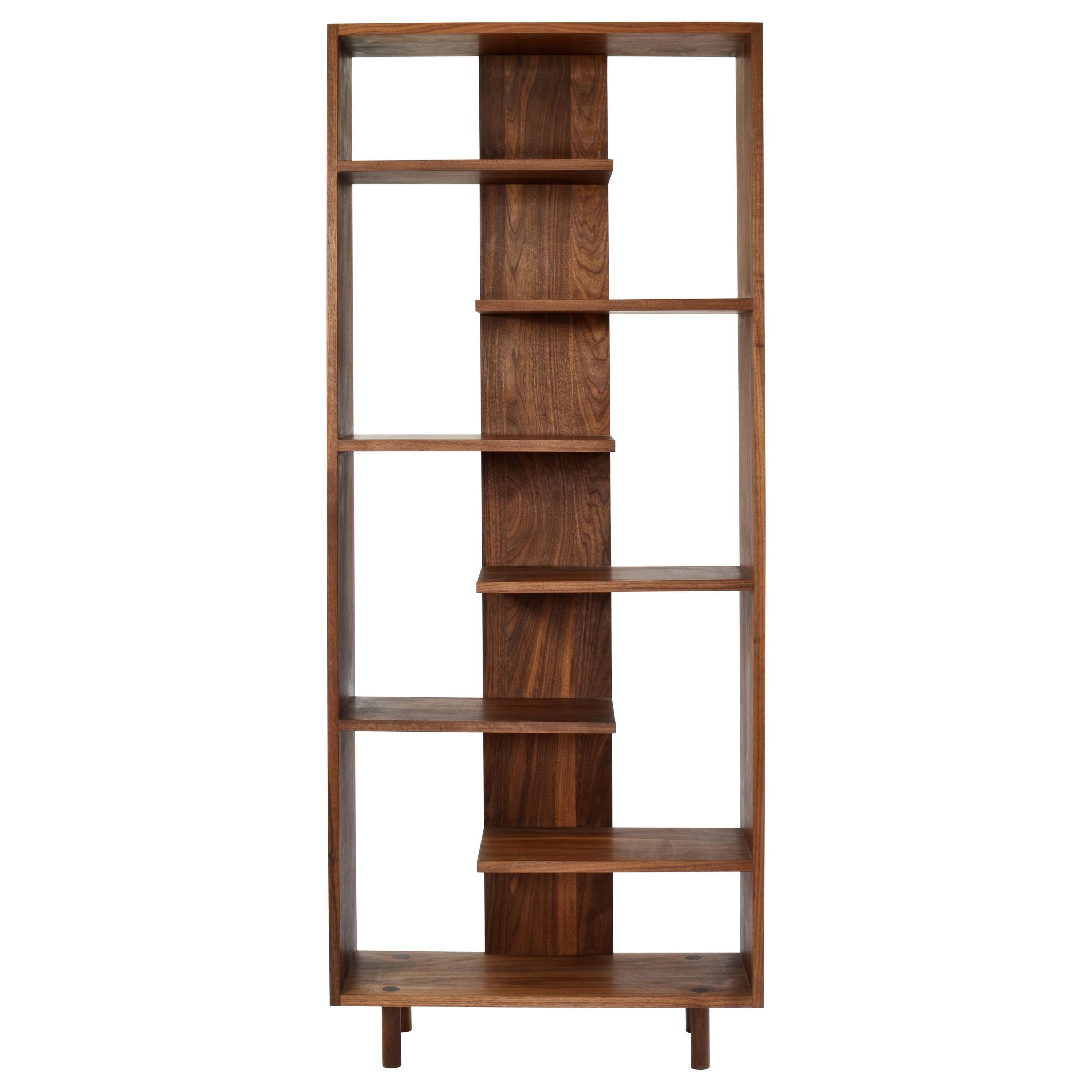"Contemporary Shelving Room Divider ""Paso"" in Walnut by Casey Lurie USA"