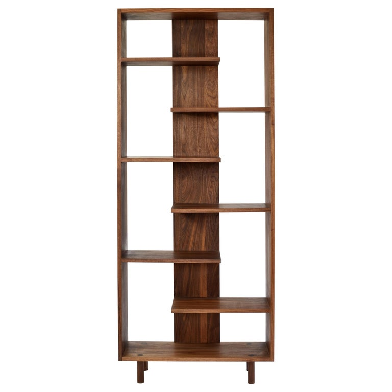 "Contemporary Shelving Room Divider ""Paso"" in Walnut by Casey Lurie USA For Sale"