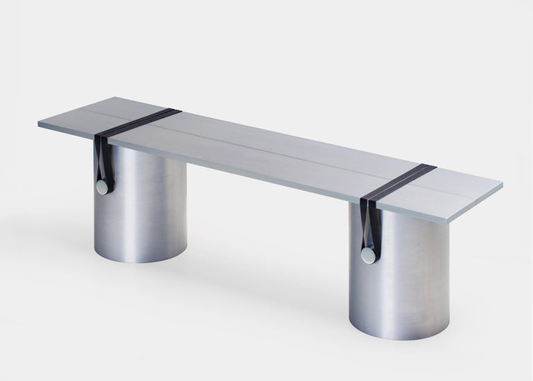 Aluminum Contemporary Side Table/Bench by Johan Viladrich For Sale