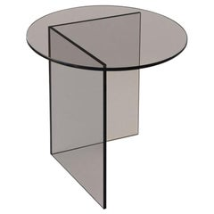 Contemporary Side Table 'Pond' Bronze Glass