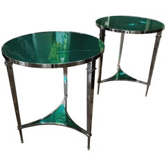 Custom Pair of Contemporary Side Tables