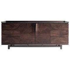 Contemporary Sideboard Crafted from Dark Solid Walnut