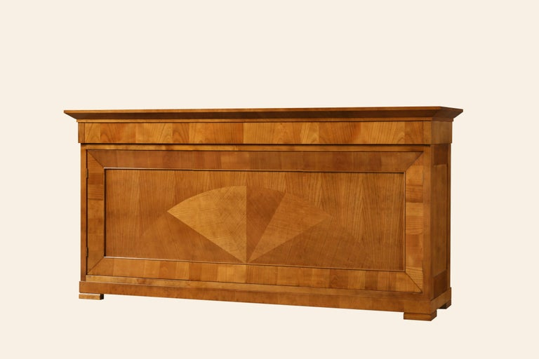 Contemporary sideboard in Biedermeier style, made of cherrywood.