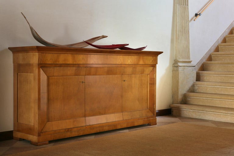 Contemporary Sideboard in Biedermeier Style, Made of Cherry Wood For Sale 1