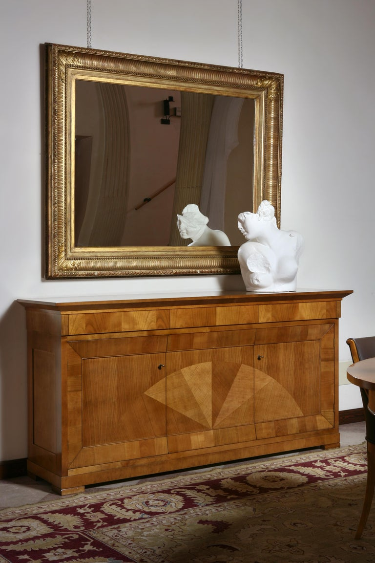 Contemporary Sideboard in Biedermeier Style, Made of Cherry Wood For Sale 3