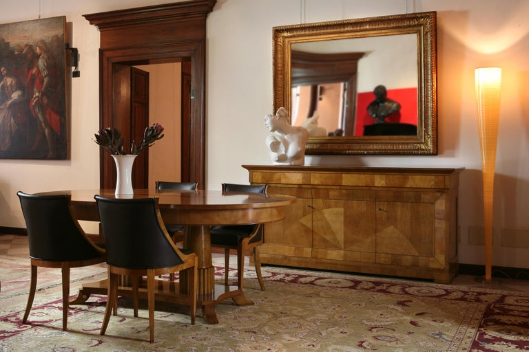 Contemporary Sideboard in Biedermeier Style, Made of Cherry Wood For Sale 4