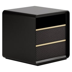 Contemporary Sidetable by Fabio Arcaini Lacquered Leather