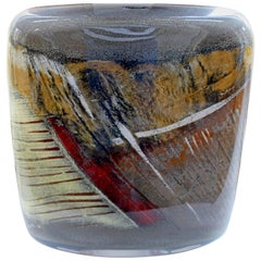 Contemporary Signed Glass Sculpture Vessel Alain & Marisa Begou, 2000, Italy