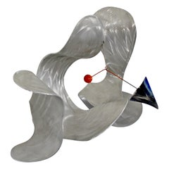 Contemporary Signed Metal Abstract Wall Sculpture Signed John Krawczyk, 1990s