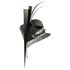 Contemporary Signed Steel Metal Wall Sculpture Signed Christiane Martens, 1990s