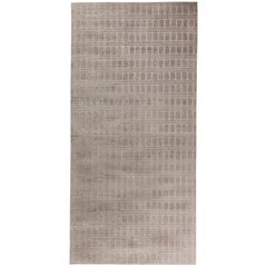 Doris Leslie Blau Collection Contemporary Gray Handmade Silk, Wool Rug